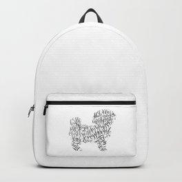 Shih Poo Shih Tzu Wall Art Shitzu Sticker Shihtzu Art Backpack