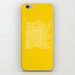 denver neighborhood print [hand drawn] iPhone Skin