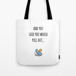 Oops Its a boy, funny pregnancy announcement Tote Bag