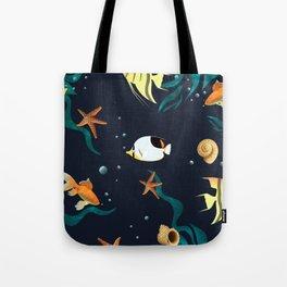 Sea life pattern ,sea shells ,sea star,fish Tote Bag