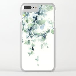 fresh green leaves Clear iPhone Case