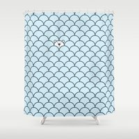 cinema Shower Curtains featuring The Last Polar Bear by Quick Brown Fox