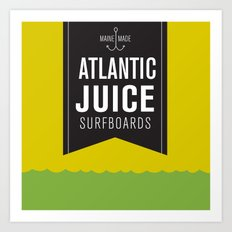 Atlantic Juice Art Print