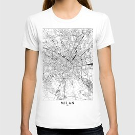 Milan White Map T-shirt
