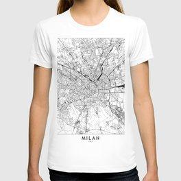 Milan White Map T-shirt