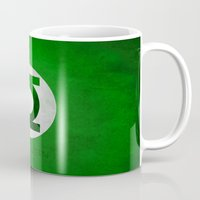 green lantern Mugs featuring Green Lantern by whosyourdeddy