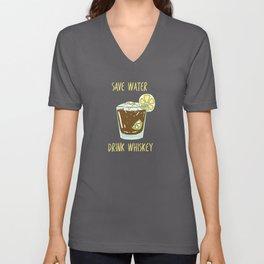 Drink Water Whiskey Unisex V-Neck