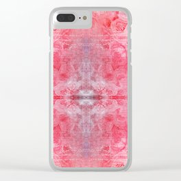 Pink Profusion Clear iPhone Case