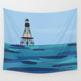 Fowey Rocks Lighthouse Wall Tapestry