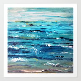 Ocean Painting Art Print