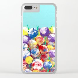 A field of wildflowers Clear iPhone Case
