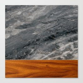 Marble and Wood 3 Canvas Print