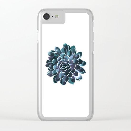 Succulent Echeveria I Clear iPhone Case