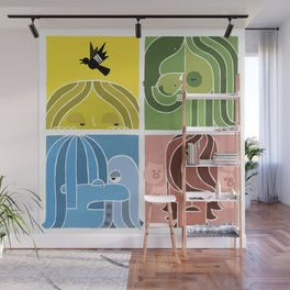 Fab Four Pets Wall Mural