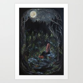A Bright Night Art Print