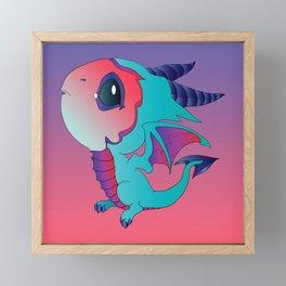 I Think I Can - Turquoise Framed Mini Art Print