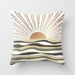 Sun Breeze-Vanilla shade Throw Pillow