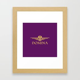 Call me Domina Framed Art Print
