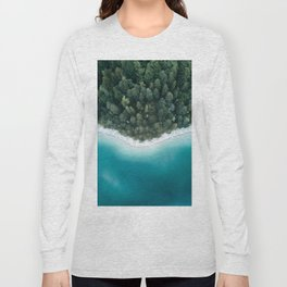 Green and Blue Symmetry - Landscape Photography Long Sleeve T-shirt