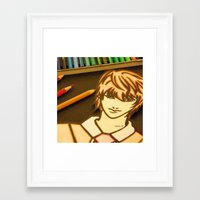death note Framed Art Prints featuring Death Note by Grim99
