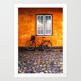 Danish Bike Art Print