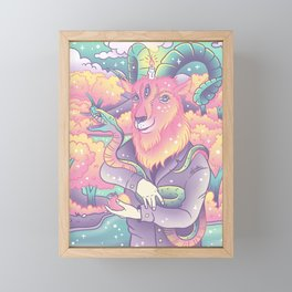 Live Deliciously! Framed Mini Art Print