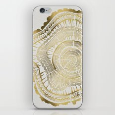 Gold Tree Rings iPhone & iPod Skin