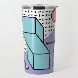 Memphis Pattern - 80s Retro - Pastel Colors Travel Mug