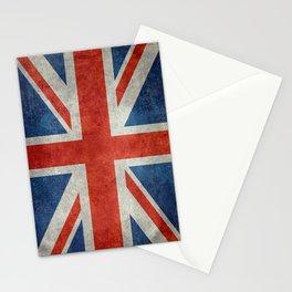 """UK British Union Jack flag """"Bright"""" retro Stationery Cards"""