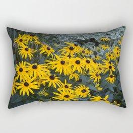 Black Eyed Susans in Bloom Rectangular Pillow