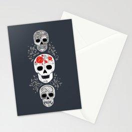 Celebracion de Gris_Calaveras Sugar Skulls line_RobinPickens Stationery Cards