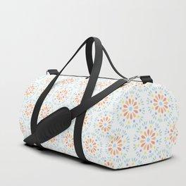 Pastel geometric flowers Duffle Bag