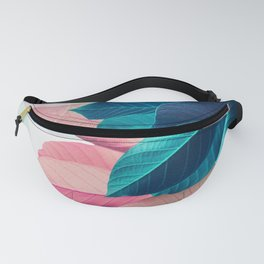 Pink and Blue Leaf Fanny Pack