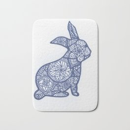 Rabbit Zentangle Bath Mat