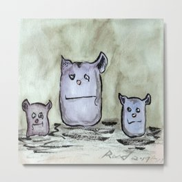 Critter Council of Three Metal Print