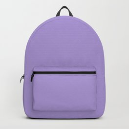 Light Chalky Pastel Purple Solid Color Backpack
