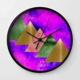 meta triangles Wall Clock