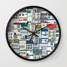 Small Part Of Town Ornament Wall Clock