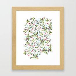 Noel Floral Framed Art Print