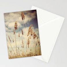 Tall Field by the Ocean Stationery Cards