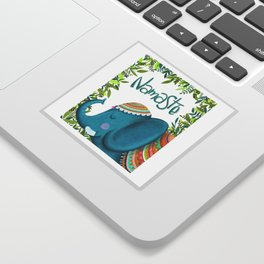 Namastey - Cute Elephant Illustration Sticker