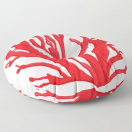 Red Coral no. 1 Floor Pillow