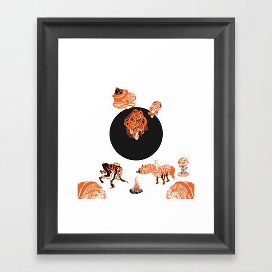 bonfire blues Framed Art Print