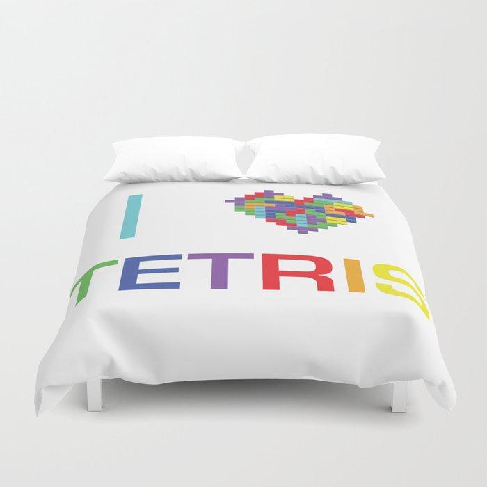 I heart Tetris Duvet Cover