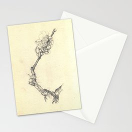 Blossoming branch Stationery Cards