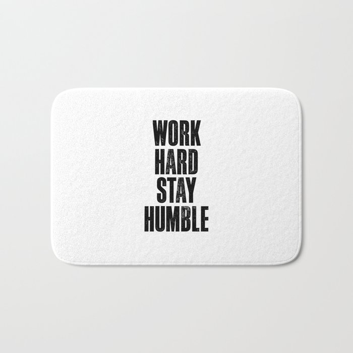 Work Hard Stay Humble Black And White Typography Poster Design Home Decor Bedroom