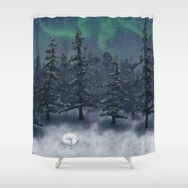 Wintry Forest Shower Curtain