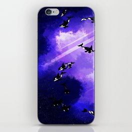 Space Orcas iPhone Skin