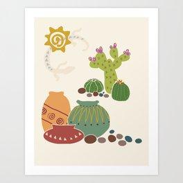 Desert Scene Art Print