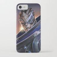 garrus iPhone & iPod Cases featuring Garrus Vakarian Portrait - Mass Effect by MarcoMellark
